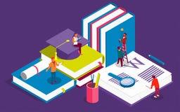 Творческие равновеликие шаблоны для образования штата, советуя с, коллеж, приложение образования иллюстрация вектора