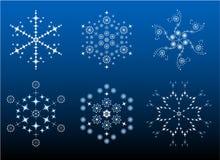 творческие снежинки Стоковая Фотография