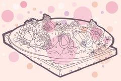 творческие суши кренов Стоковая Фотография