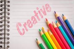 Творческие цвета на линейной бумаге Стоковые Изображения