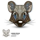 Творческие элементы логотипа и дизайна с крысой Стоковые Изображения RF