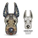 Творческие элементы логотипа и brandbook с собакой Стоковые Изображения RF