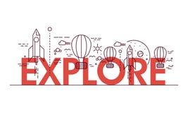 Творческие элементы для Explore Стоковая Фотография RF