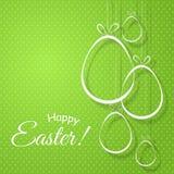 Творческие яйца со смычками на элементе текста пасхи зеленой предпосылки счастливом для дизайна карт знамен плакатов шаблонов бесплатная иллюстрация