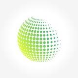 Творческий абстрактный, живой и красочный глобус сферы значка Стоковое фото RF