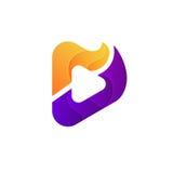 Творческий абстрактный дизайн логотипа вектора знака игры значка музыки Стоковые Фото
