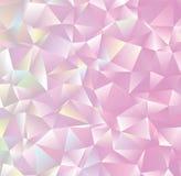 Творческий абстрактный свет полигона - розовая иллюстрация ART зажима вектора Стоковое Изображение