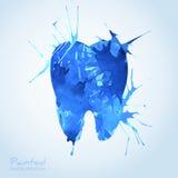 Творческий зубоврачебный дизайн значка иллюстрация штока