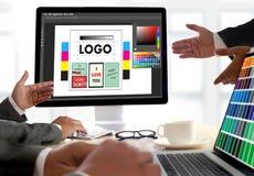 Творческий дизайнерский график на работе Образцы образца цвета, Illustr Стоковое фото RF
