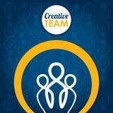 Творческий дизайн команды Стоковое Изображение