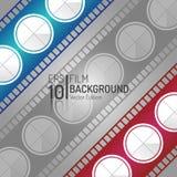 Творческий дизайн предпосылки кино Элементы вектора Минимальная иллюстрация фильма EPS10 Стоковое фото RF