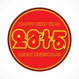 Творческий дизайн 2015 приветствию Нового Года Стоковые Фотографии RF