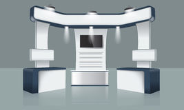 Творческий дизайн стойки выставки Шаблон будочки Вектор фирменного стиля Стоковые Изображения RF