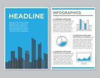 Творческий дизайн шаблона брошюры с infographic Стоковое Изображение