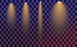 Творческий комплект вектора концепции звезд светового эффекта зарева разрывает с искрой Стоковые Фото