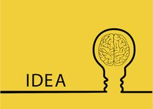 Творческий конспект идеи электрической лампочки, план потока операций шаблона современного дизайна концепции воодушевленности, ди Стоковая Фотография RF