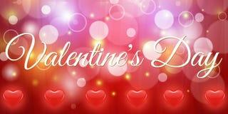 Творческий красный день валентинки знамени сердца Стоковое Изображение RF
