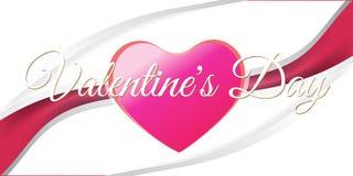 Творческий красный день валентинки знамени сердца Стоковые Фотографии RF