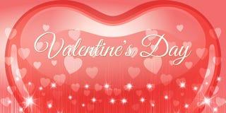 Творческий красный день валентинки знамени сердца Стоковое фото RF