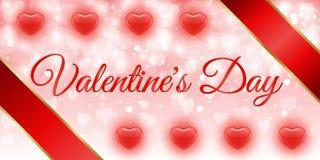 Творческий красный день валентинки знамени сердца Стоковая Фотография RF