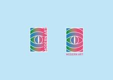 Творческий логотип на теме современного искусства Стоковые Изображения