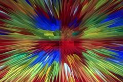 Творческий пестротканый взрыв Стоковые Фото