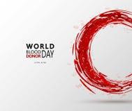 Творческий плакат дарителя данным по мотивировки дня донора Vector иллюстрация концепции крови Donate для мира Стоковая Фотография