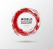 Творческий плакат дарителя данным по мотивировки дня донора Vector иллюстрация концепции крови Donate для мира Стоковое Фото