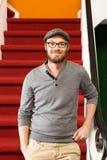 Творческий профессионал в лестнице стоковая фотография