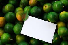 Творческий план сделанный из цветков и листьев с примечанием бумажной карточки Стоковая Фотография RF