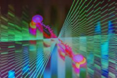 Творческий рассказ на теме абстрактных форм с запачканным прибоем Стоковые Фотографии RF