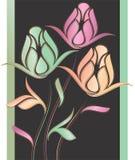 Творческий розовый цветок Стоковая Фотография
