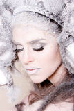 творческий состав волос девушки способа Стоковое фото RF