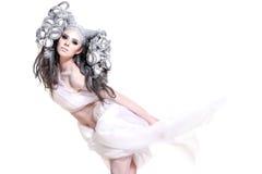 творческий состав волос девушки способа Стоковое Фото