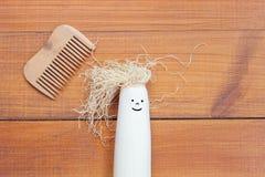 творческий стиль причёсок Потеха с едой Стоковые Изображения RF
