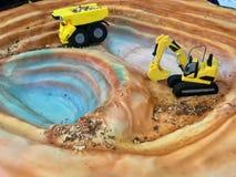 Творческий торт для горнодобывающей компании Стоковое Изображение