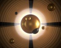 Творческий ультрамодный современный futurism Bac конспекта золота ретро винтажный иллюстрация штока