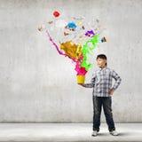 творческий думать Стоковое Изображение