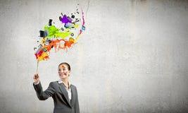 творческий думать Стоковые Изображения