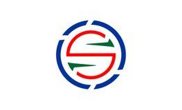 Творческий уникально дизайн логотипа письма s стоковое изображение