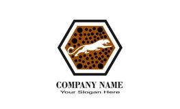 творческий уникально логотип дизайна тигра стоковое изображение rf