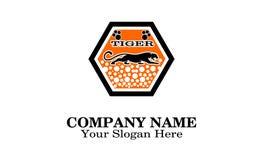 Творческий уникальный тигр дизайна логотипа стоковое фото