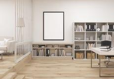 Творческий уютный интерьер офиса иллюстрация вектора