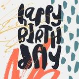 Творческий шаблон поздравительой открытки ко дню рождения с днем рождений Стоковые Фото