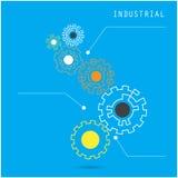 Творческий шаблон знамени дизайна вектора конспекта шестерни корпоративно бесплатная иллюстрация