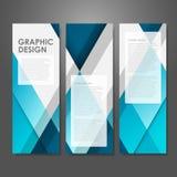 Творческий шаблон знамени рекламы в сини иллюстрация вектора