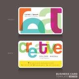 Творческий шаблон дизайна визитных карточек Стоковые Фотографии RF