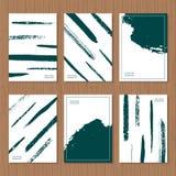 Творческий шаблон карточки Иллюстрация штока