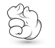 Рука шаржа - иллюстрация вектора щипка перста иллюстрация штока