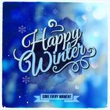 Творческое графическое сообщение для дизайна зимы Стоковое Изображение RF